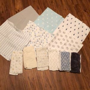 Burp cloths and receiving blankets